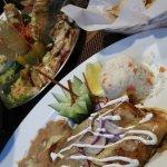 fresh catch sampler platter and enchiladas