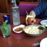 Mojito, chips and salsa