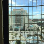 View out of the atrium...Marriott across the street...we have stayed at both properties