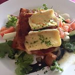Salad with Brie cheese -- quite good!