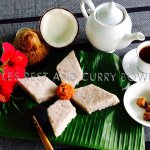 Milk rice for breakfast at Curry Bowl restaurant