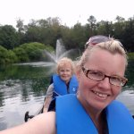 Canoeing the pond
