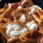 Penne Rustica (sauteed chicken, Italian sausage, tomatoes, onions, ricotta, mozzarella, parmesan
