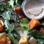 Takeout: Side caesar salad