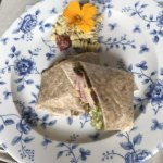 Home baked ham, Dubliner Cheddar, Red Onion, mixed leaves & apple chutney