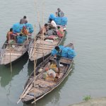 towards local market in river bank