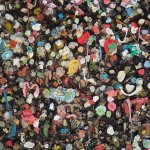 Gum on Wall