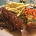 Beef steak & sausage