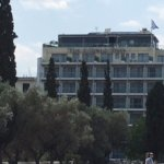 View of the hotel from Temple of Zeus