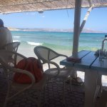 What a lovely friendly place to enjoy an early breakfast with the waves lapping at your feet!