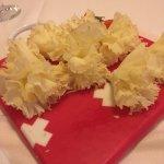 Tabla de flores de queso cabeza de monje