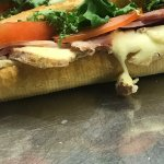 SANDWICH ON DISPLAY WITH NOT APPROPRIATE TEMPERATURE....MADE TO POISON PEOPLE LIKE THAT>>>>>DISG