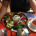 Thai yellow curry platter