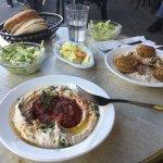 Maroccoan hummus and hummus with falaffel