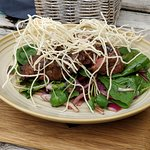 Balsamic glazed steak,