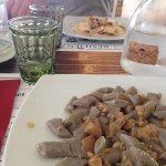 Gnocchi Viola con porcini e salsiccia, ravioli alla Gricia