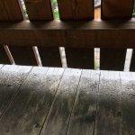 Unswept balcony