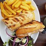 Toasted tuna & mayo sandwich