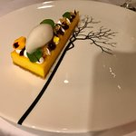 Stunning food with some interesting teams. Rather complex combination with delicious taste. Grea