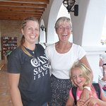 the lovely Magda on the left (nothing was too much trouble for her and the kids adored her)