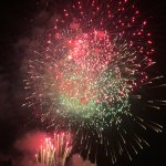 i fuochi d'artificio del 15 agosto visti dall'ultimo piano dell'hotel