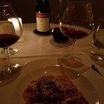 My pasta + wine