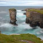 Yesnaby Castle, a sea stack on the West Mainland of Orkney