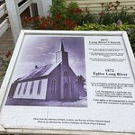 ロングビーチ教会の説明看板