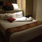 bed with sunken mattress, no support