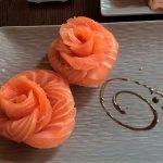 sashimis saumon, aussi bon que beaux.