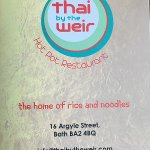 thai by the weir menu