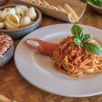Laluna Sea Crab Linguine. Gluten free pasta options available