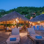 Laluna's thatched roof open air lounge and bar