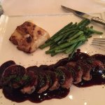 Duck Breast, green beans, potatoes gratin