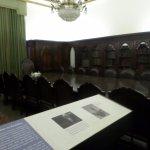 Empty board room exhibit
