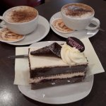 Black Forest Gateau and Cappuccino