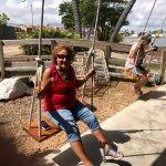 Swings at La Pescaderia.  FUN!