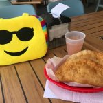 Lobster Empanadas and fresh Ruby Red juice.