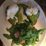Eggs Benedict with avocado