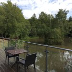 View from decking overlooking lake