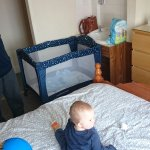 Lots of space for a travel cot.