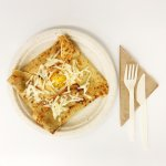 Ham with Cheese and Egg Savory Crêpe