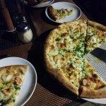 Wood Fired shrimp Scampi Pizza
