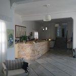 Hotel reception and lobby.