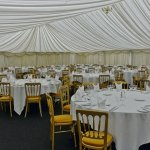 The marquee set up ready for the evening