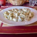Tortellini in a gorgonzola sauce