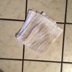 Quick run of washcloth on the floor...floors were also sticky!