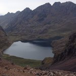 Lagoon in the andean highlands