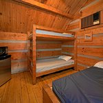 Overnight, or for a few days, outdoors folks love our camping cabins.