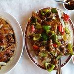 Canard laqué et Nouilles de riz